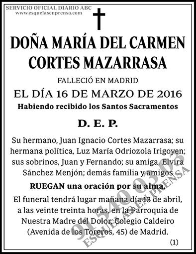 María del Carmen Cortes Mazarrasa